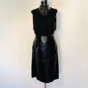 Gap Leather Midi Skirt